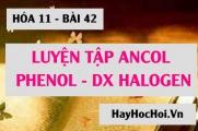 Ancol, Phenol và Dẫn xuất Halogen: Bài tập luyện tập - Hóa 11 bài 42